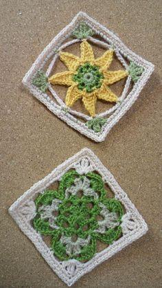 フェリシモ 小さなお話布小物DN1の画像 | 野の花手芸噺 çiçekli kare motif örneği