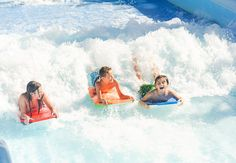 Beaches Turks & Caicos' exciting Pirates Island Waterpark is home to the only surf simulator in the Caribbean. | Beaches Resorts #BeachesMoms