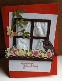 Gratulations-Doppel Karte. Geburtstag. Stampin Up