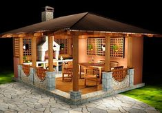 a small-house for the garden, gazebo ideas. a small-house for the garden, gazebo ideas. Backyard Gazebo, Garden Gazebo, Backyard Patio Designs, Backyard Landscaping, Small Gazebo, Pergola Patio, Small Patio, Backyard Kitchen, Outdoor Kitchen Design