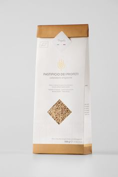 Pastificio dei Profeti on Packaging of the World - Creative Package Design… Rice Packaging, Bakery Packaging, Food Packaging Design, Coffee Packaging, Beverage Packaging, Packaging Design Inspiration, Brand Packaging, Pouch Packaging, Design Blog