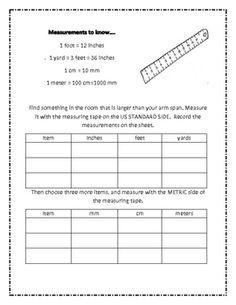 Measurement Conversion Worksheets 2 - 6 5 practice worksheets w ...