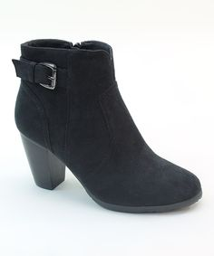 This Italina Black Buckle Bootie by Italina is perfect! #zulilyfinds