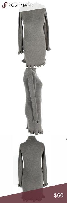 Ralph Lauren merino wool knee length dress! Gorgeous Ralph Lauren knee length merino wool dress. Turtleneck and long sleeve. Size L. Gray and stunning. Excellent condition. Worn twice! Ralph Lauren Dresses
