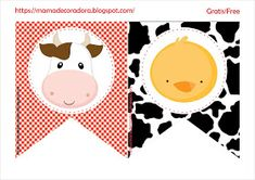 Mamá Decoradora: Kit Imprimible La Granja Gratis Farm Animal Birthday, Farm Birthday, Birthday Party Themes, Farm Party Invitations, Farm Party Decorations, Party Fiesta, Farm Kids, Wedding Bottles, Farm Theme