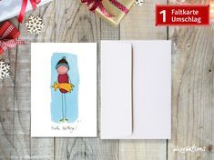 Funny Character, Characters, Etsy Shop, Cover, Illustration, Books, Red, Blue, Christmas Drawing