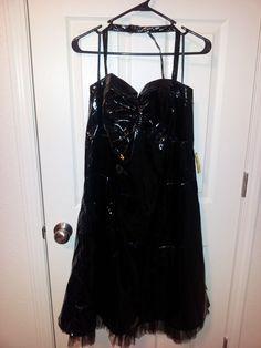 TRIPP Black Pvc Dress Plus size 16 #TrippNYC #Halter #Clubwear