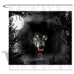 Wolf Painting Shower Curtains