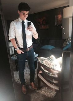 Sean ODonnell #mirror selfie,  #sean o'donnell  #watch -  #belt  well dressed -  suit and tie