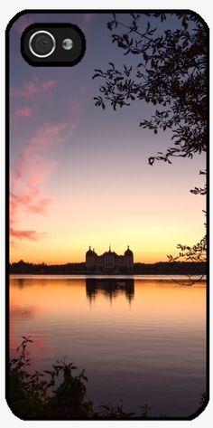 Case for Iphone 5/5S - Sundown at fairytale castle - by UtArt  #moritzburg, #fairytale, #cinderella, #3haselnüsse #schloss #society6, #originalaufnahme, #utart