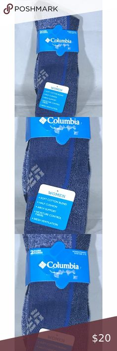 """Columbia Sportswear Socks Wms Sz 4-10 NWT You are viewing a Columbia Socks 4-10 NWT; blue grey Please view all pics and ask any questions you may have prior to making a bid, offer, or purchase. The item in the pictures is the EXACT item you will receive if placing an order. Please do not hesitate to ask any questions or make offers !! I will accept almost all REASONABLE offers !! Thanks so much for your time and your interest!! Thanks for shipping with us at : """"THE SEACRET CELLAR""""…"""