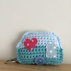 Crochet Caravan Keyring by FloAndDotShop on Etsy