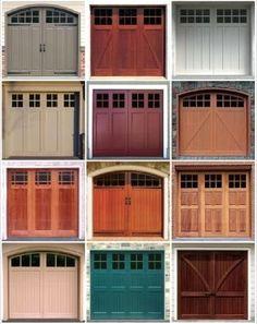 Pin By Taylor Crowley On Home Garage Door Design Garage House Garage House, Barn Door Garage, Garage Door Colors, Carriage Garage Doors, Modern Garage Doors, Garage Door Styles, Garage Door Design, House Doors, Barn Doors