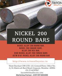 Triton Alloys Inc. is an Exporter, Manufacturer & Supplier of Nickel Alloy 200 Round Bar, Alloy 200 Hex Bar,  ASTM B160 ASTM B161 Nickel Alloy 200 Round Bar, Nickel Alloy N02200 Round Bar from Mumbai, India. #NickelAlloy200RoundBar #Alloy200HexBar #ASTMB161NickelAlloy200RoundBar #NickelalloyN02200RoundBar  #RoundBar #alloy #supplier #manufacturer #exporter #india #mumbai #singapore #kuwait #qatar #uae #oman #saudiarabia  #dubai