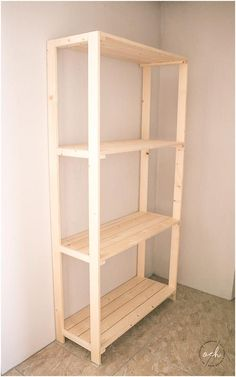 This would work as a plant shelf for the deck door. This would work as a plant shelf for the deck do Diy Storage Unit, Outdoor Storage Units, Extra Storage, Garage Storage Shelves, Pallet Furniture, Furniture Projects, Furniture Decor, Furniture Storage, Furniture Plans