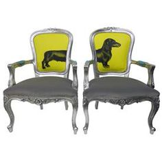 ah-mazing chairs... Jimmie Martin Sausage Dog Chairs