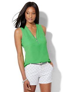 33a595d780 Soho Soft Shirt - Hi-Lo - Zip-Front - Solid - New York   Company