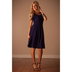 The Harlow in Navy - Neesee's Dresses