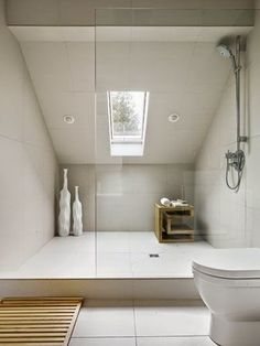 3 Fabulous Tips: Unfinished Attic Apartment Therapy attic design playrooms.Attic Art Home attic transformation offices. Loft Ensuite, Bathroom Closet, Bathroom Interior, Modern Bathroom, White Bathroom, Bathroom Vintage, Bathroom Mirrors, Bathroom Shelves, Bathroom Cabinets