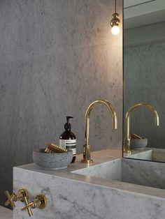 Brass faucet ~ placement. Studioilse
