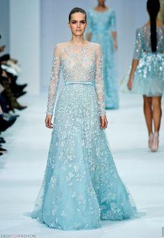 Elie Saab Blue Wedding Dress   by Elie Saab