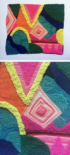 Liz Payne embroidery | modern embroidery | beaded embroidery | abstract embroidery