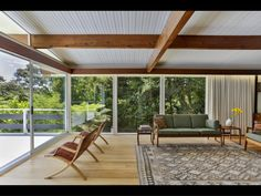203 Atkinson Road, Titirangi - Property history and estimated values in Waitakere City, Auckland Timber House, Floor To Ceiling Windows, Timber Flooring, Mid Century House, Mid Century Design, Cladding, Property For Sale, Mid-century Modern, House Design