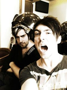 Two of my most favorite people, Jack Barakat and Alex Gaskarth :)