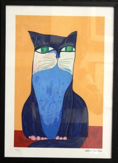 Aldemir Martins - Gato Azul - Gravura Póstuma - Medindo 28 x 42cm. 05/12/2014 às 16h. Compartilhe!