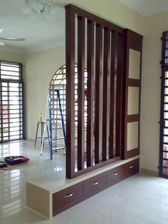 Wondrous Minimalist Interior Design with Room Divider Ideas Divider Design Wooden Partition Design, Wooden Partitions, Living Room Partition Design, Living Room Divider, Room Divider Walls, Room Partition Designs, Room Partitions, Room Partition Wall, Partition Ideas