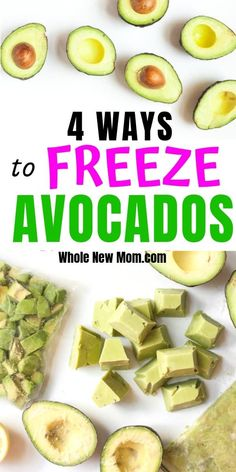 4 Ways to Freeze Avocados Did you know that freezing avocados seriously works? Here are 4 Ways to Freeze Avocados so you can save loads of money when they're on sale! Freezing Avocados — 4 Ways to Do It! Avocado Recipes, Paleo Recipes, Low Carb Recipes, Whole Food Recipes, Cooking Recipes, Avocado Dessert, Freezer Cooking, Freezer Meals, Freezer Storage