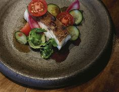 NIC WATT, MASU BARBECUED KINGFISH FILLET WITH BLACKENED TOMATO SALSA New Zealand Food, Pickled Red Onions, Sashimi, In The Flesh, Cherry Tomatoes, Barbecue, Salsa, Fish, Cooking