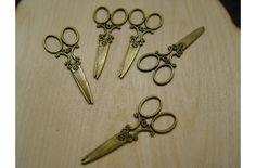 Olló antik (csomag ár!!! 5db/cs (643.-)) - Veretek, medálok,fém díszítő elemek - kosarbolt