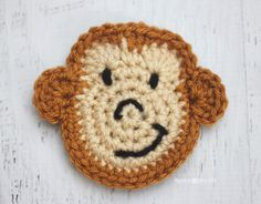 M is for Monkey: Crochet Monkey Applique - Repeat Crafter Me
