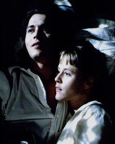 Johnny Depp (Sam) and Mary Stuart Masterson (Joon) in Benny & Joon (1993)