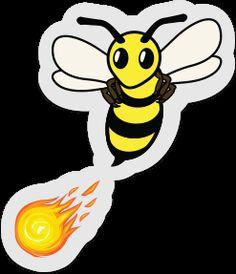 Clear firebee sticker