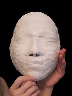 Mummy Egyptian Mask; puts the usual life mask from plaster bandages in a whole new light!