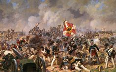battle of borodino - french infantry engage a russian artillery battery position.