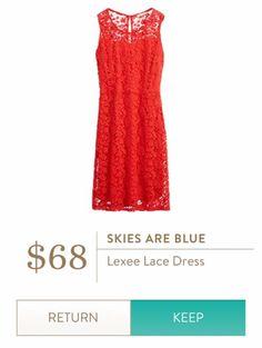 Stitch Fix April 2016 - Skies are Blue Lexee Lace dress $68