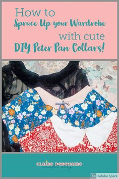 Add Peter Pan Collars to your old clothes for added adorable little detail & a new neckline finish. Use this easy trick (which is a great scrap buster!) to update any piece in your wardrobe! Peter Pan collars can also breathe some new life into old sweaters, shirts, & dresses- you don't need to make the clothes yourself to add a cute collar! #scrapbuster #upcycle #repurpose #sustainableclothing Easy Sewing Projects, Sewing Projects For Beginners, Sustainable Clothing, Sustainable Living, Old Sweater, Sweaters, Scrap Busters, Peter Pan Collars, Leftover Fabric