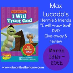Max Lucado Hermie and Friends DVD give-away!  Enter today!
