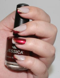 Nail art by our very own feelunique.com expert. The perfect Christmas party nails. #nailart