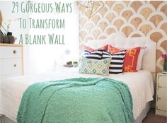 29 Wall Decoration Ideas That Only Look Expensive. Some of these are great ideas if you are renting and want to decorate your room without damaging the walls.