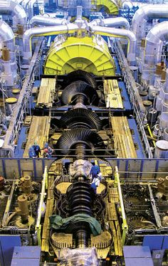 Need a Gigawatt of power? - use this: Alstom turbine at the Temelin nuclear power station Steam Turbine, Turbine Engine, Power Engineering, Mechanical Engineering, Industrial Machinery, Heavy Machinery, Nuclear Energy, Nuclear Power, Nuclear Reactor