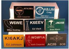 Ham Radio Call Sign Badges Amateur Radio by PrecisionEngraving
