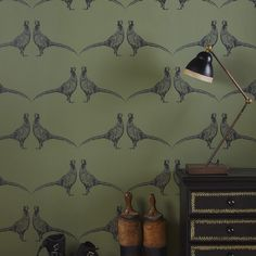 "With the re-introduction of wallpaper into modern day interior design, creating a ""feature wall"" or redecorating an entire room has […] Wallpaper Online, Room Wallpaper, Fabric Wallpaper, Feature Wallpaper, Stag Wallpaper, Quirky Wallpaper, Interior Wallpaper, Wallpaper Ideas, Animal Print Wallpaper"