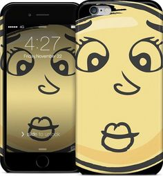 Kiss Emoji iPhone 6 Case #iPhone #case #hardcase #iPhone6 #cartoon #cool #toon #funky #awesome #vectortoons #vector #clipart #stock