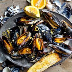 Creamy+lemon-pepper+mussels