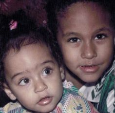 Baby Ney with his sister Rafaella