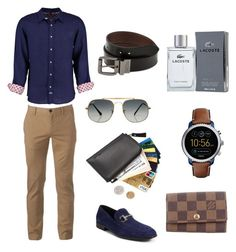 """Senza titolo #1862"" by merypr ❤ liked on Polyvore featuring Tobias, Salvatore Ferragamo, FOSSIL, Ray-Ban, Lacoste, Urban Pipeline, Levi's, Louis Vuitton, men's fashion and menswear"